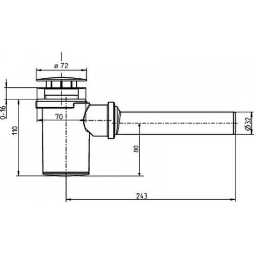 SANIT Odpływ / syfon z osłonięciem chromowaną osłoną