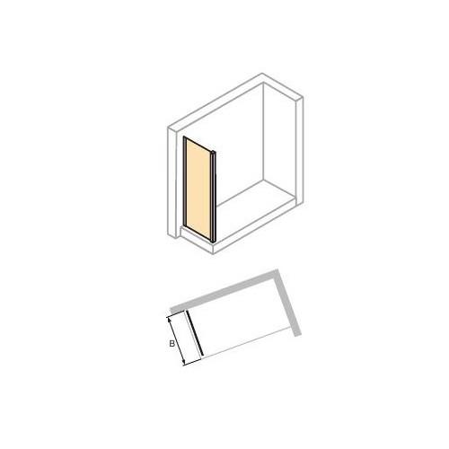 Hüppe Aura elegance ścianka boczna do drzwi suwanych 90 cm