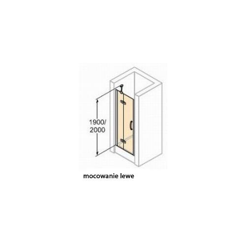 Hüppe Aura elegance drzwi skrzdłowe 100cm lewe 400103.055.321