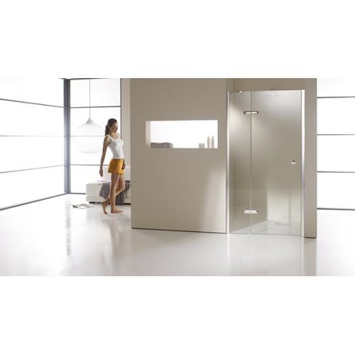Hüppe Enjoy Elegance drzwi skrzydłowe ze stałym segmentem do wnęki 120 cm 3T0904.092.321