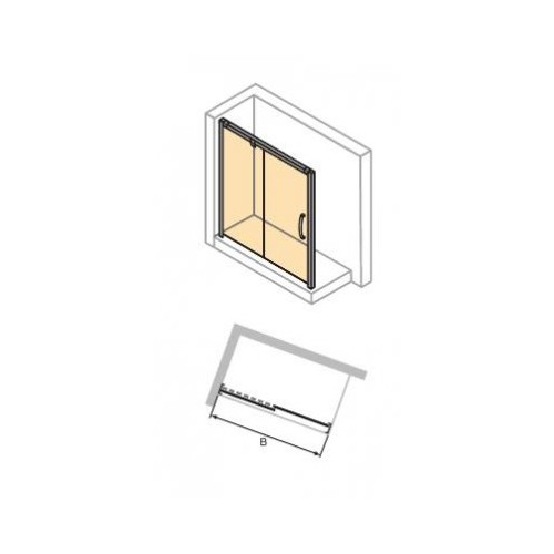 Hüppe Aura elegance 4-kąt drzwi suwane 150 cm 401407.092.321