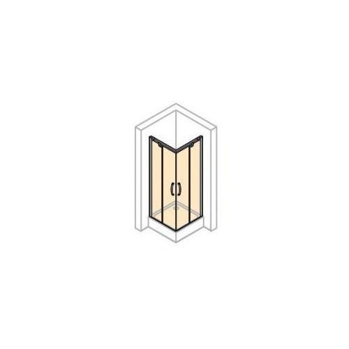 Hüppe Aura elegance wejście narożnikowe 90/75 cm 401305.055.321