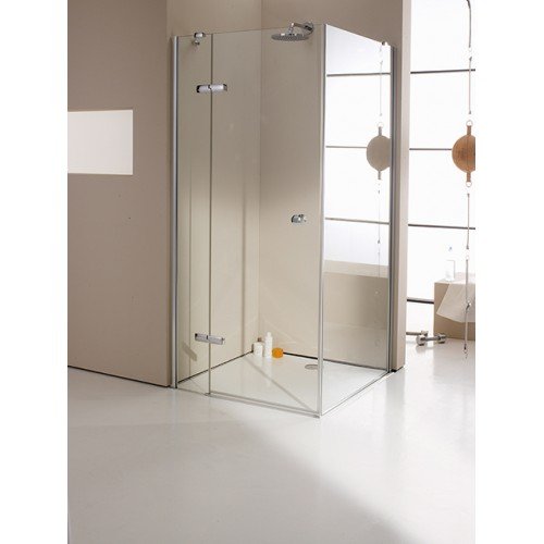Hüppe Enjoy Elegance drzwi skrzydłowe ze stałym segmentem do ścianki bocznej 90 cm 3T0108.092.322