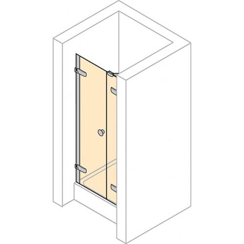 Hüppe Enjoy Elegance drzwi skrzydłowe z częścią boczną do wnęki 120 cm 3T3204.087.322