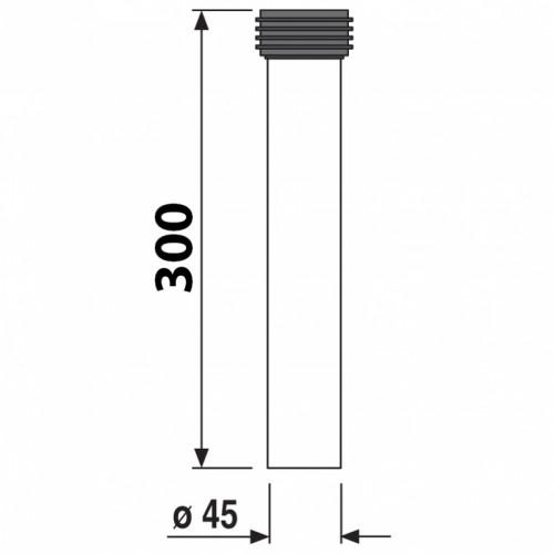 SANIT Rura podłączeniowa stelaż z WC PE 30cm / 45m