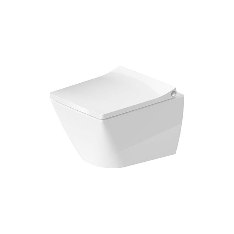 Duravit Viu Compact miska WC wisząca Rimless biała z deską wolnoopadającą