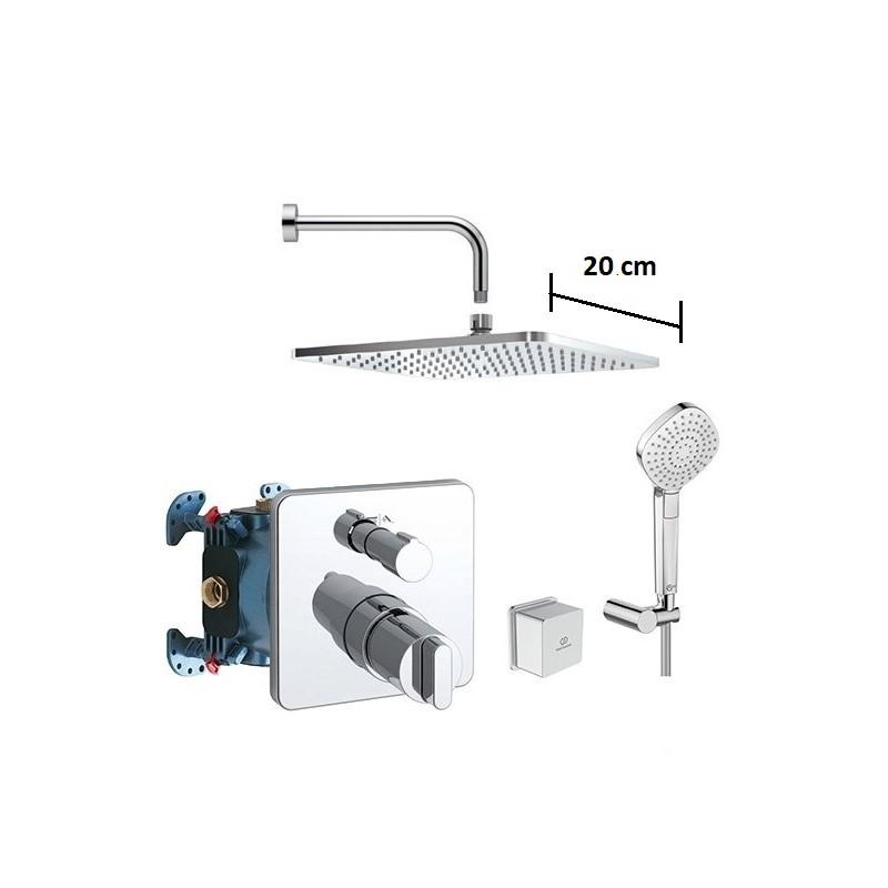 IDEAL STANDARD Zestaw prysznicowy podtynkowy, deszczownica 20cm komplet