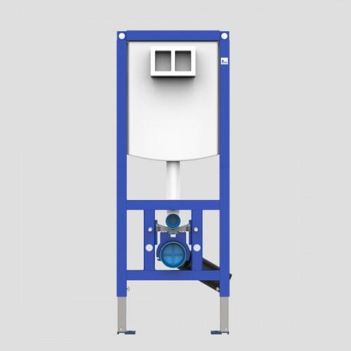 Sanit Ineo Stelaż podtynkowy z przyciskiem 4w1 CHROM