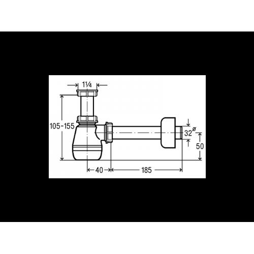 VIEGA Syfon niski umywalkowy / bidetowy