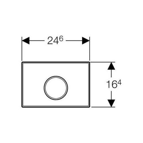 GEBERIT Przycisk spłukujący Sigma10 biały/chrom mat