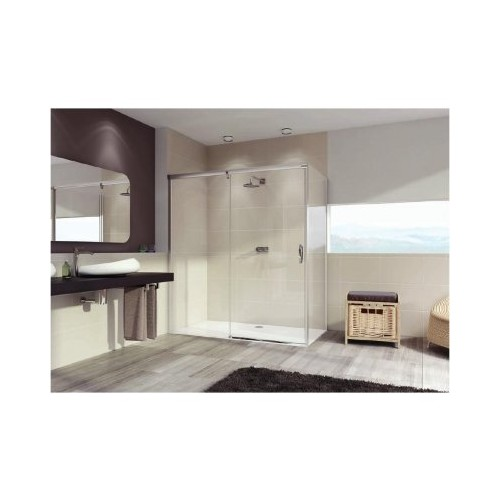 Hüppe Aura elegance ścianka boczna do drzwi suwanych 90 cm 401603.092.322