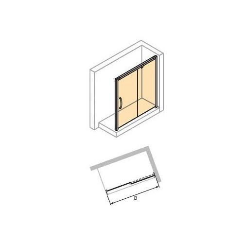 Drzwi suwane 1-częściowe ze stałym segmentem 170 cm prawe 4-kąt Hüppe Aura elegance 401509.055.322
