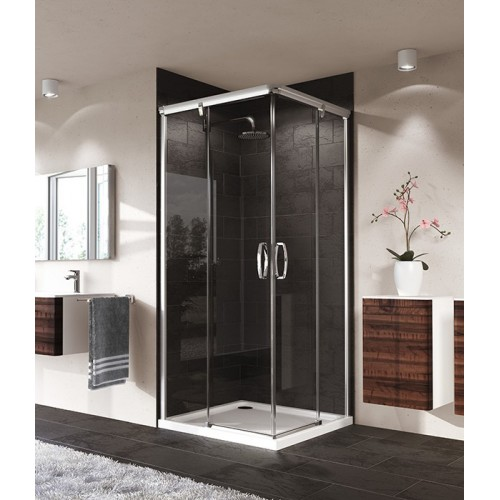 Hüppe Aura elegance wejście narożnikowe 80/120 cm 401306.087.321