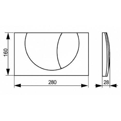 SANIT Przycisk spłukujący M 801 1680181